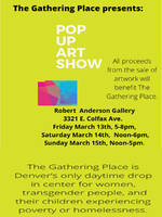 The Gathering Place presents a Pop-up Art Show at the Robert Anderson Gallery