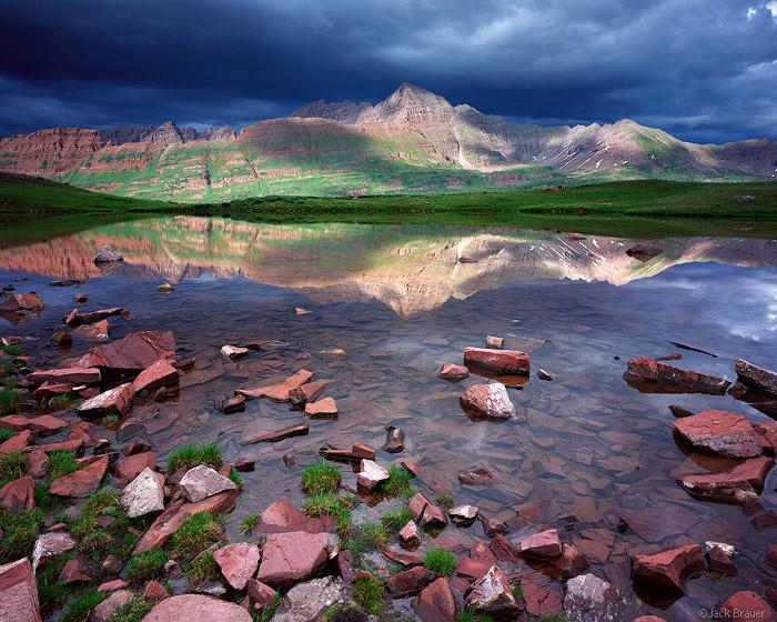 Maroon Bells, fourteeners, Fravert Basin, Elk Mountains, Colorado, photo