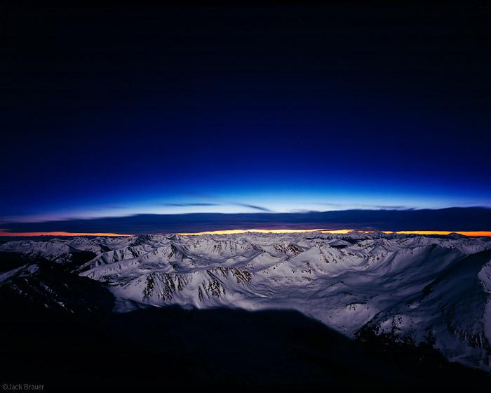 Mt. Elbert, Colorado, summit, moonlight, photo