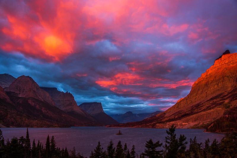 Glacier NP,  St. Mary's Lake