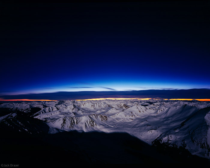 Mt. Elbert, Colorado, summit, moonlight, photo